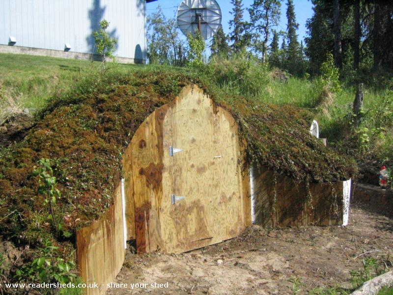 hobbit hole, unique from kenai, alaska ownedr estelle #shedoftheyear