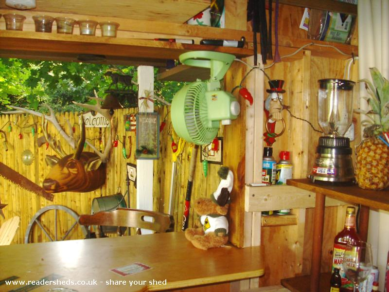 Photo of Redneck Tiki, entry to Shed of the year-inside looking out