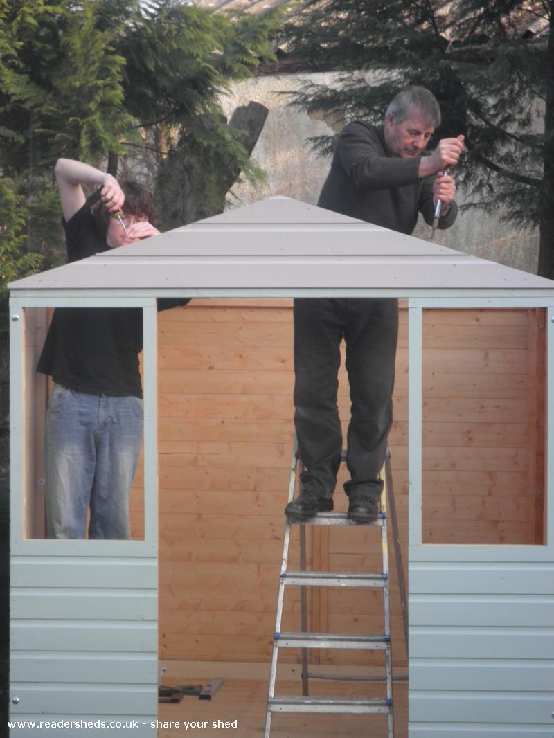 Photo of My Sweet Retreat, entry to Shed of the year-Hard at work
