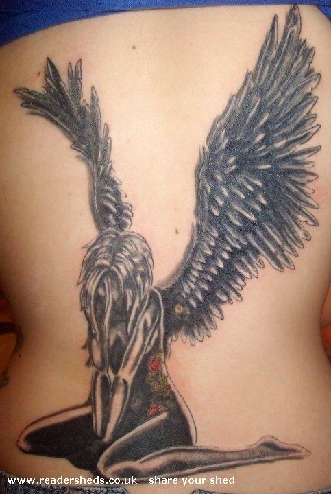 Jaggy paintbrush tattoo