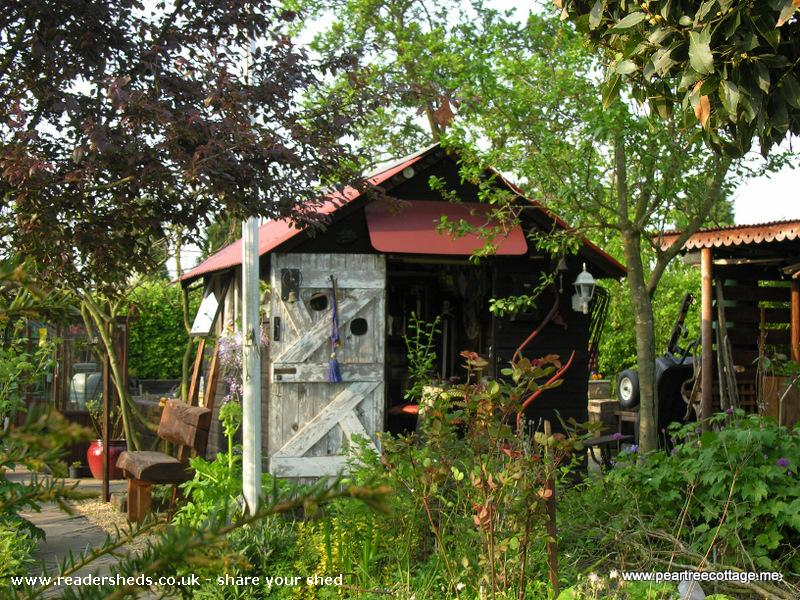 Photo of 'The Studio', entry to Shed of the year-Homemade door windows