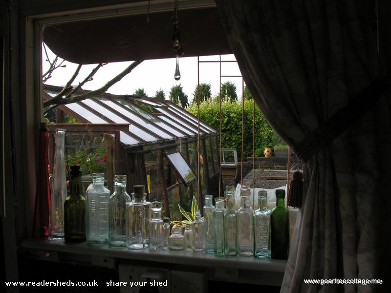Photo of 'The Studio', entry to Shed of the year-Old bottles dug up in the garden