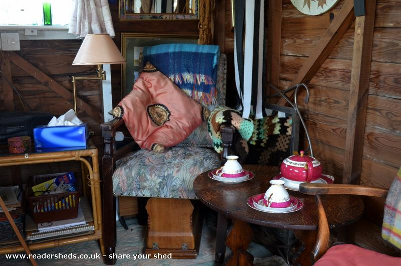Photo of 'The Studio', entry to Shed of the year-New(old)table and chair