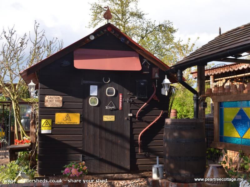 Photo of 'The Studio', entry to Shed of the year-Entrance with relocated water barrel
