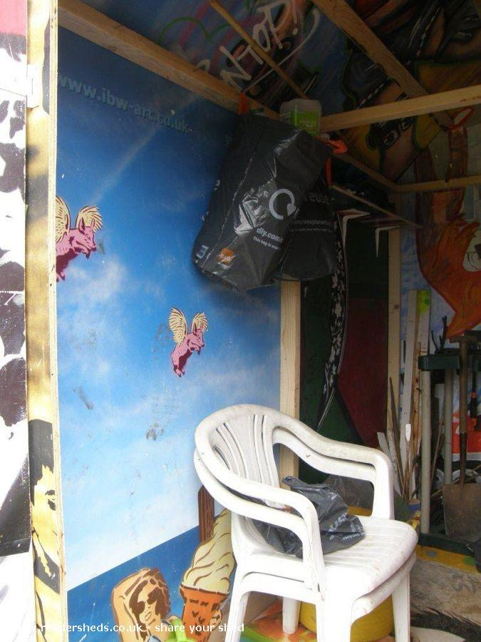 Urban Art Allotment Shed