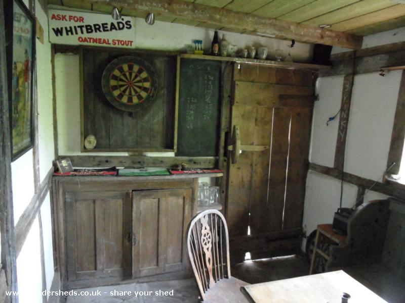 Photo of THE BOOT INN, entry to Shed of the year-Darts and glasses