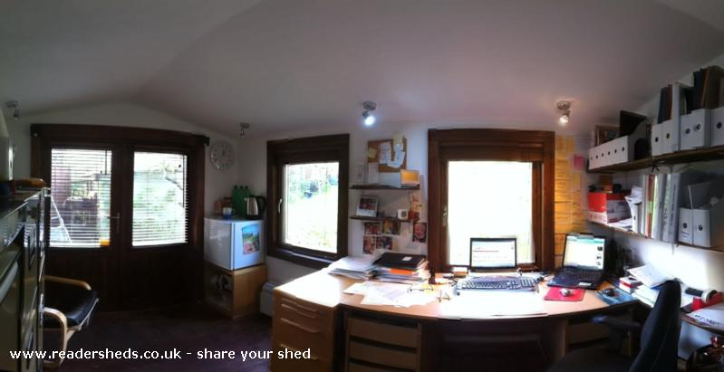 Photo of Peter's Shed, entry to Shed of the year-Internal panoramic