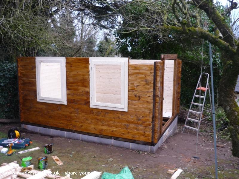 Photo of Peter's Shed, entry to Shed of the year-Going Up - Staining as we go