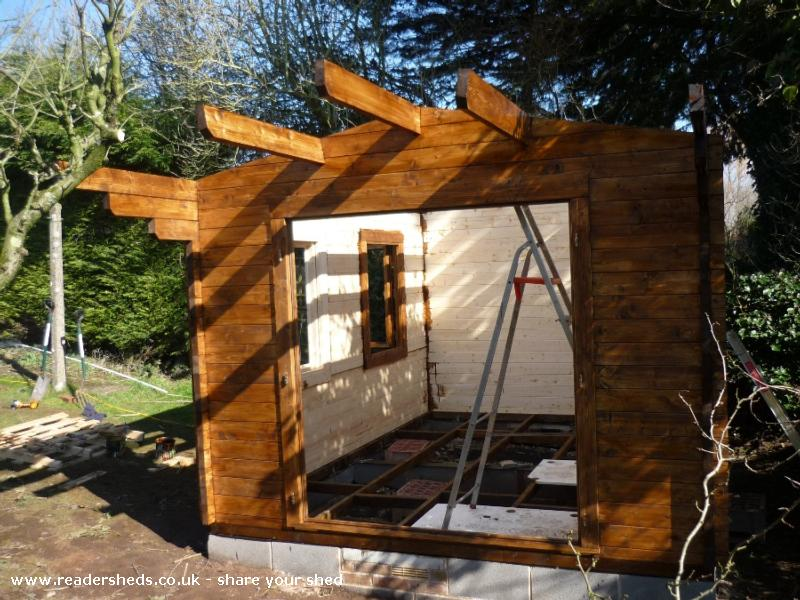 Photo of Peter's Shed, entry to Shed of the year-Nearly there...
