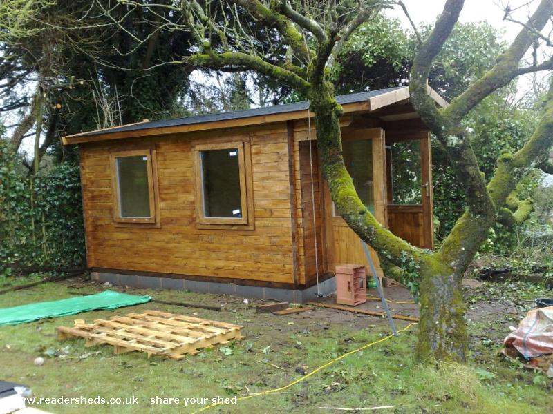 Photo of Peter's Shed, entry to Shed of the year-Weather proof!