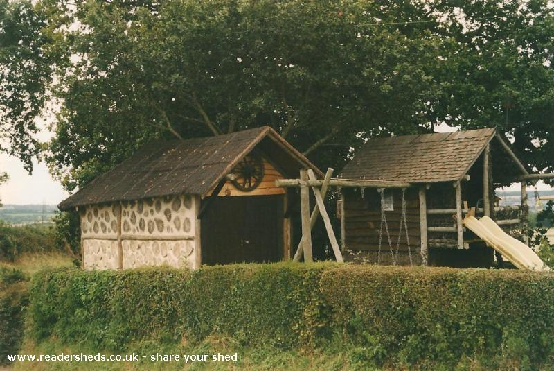 The round log shed unique from garden owned by katie for Round garden buildings