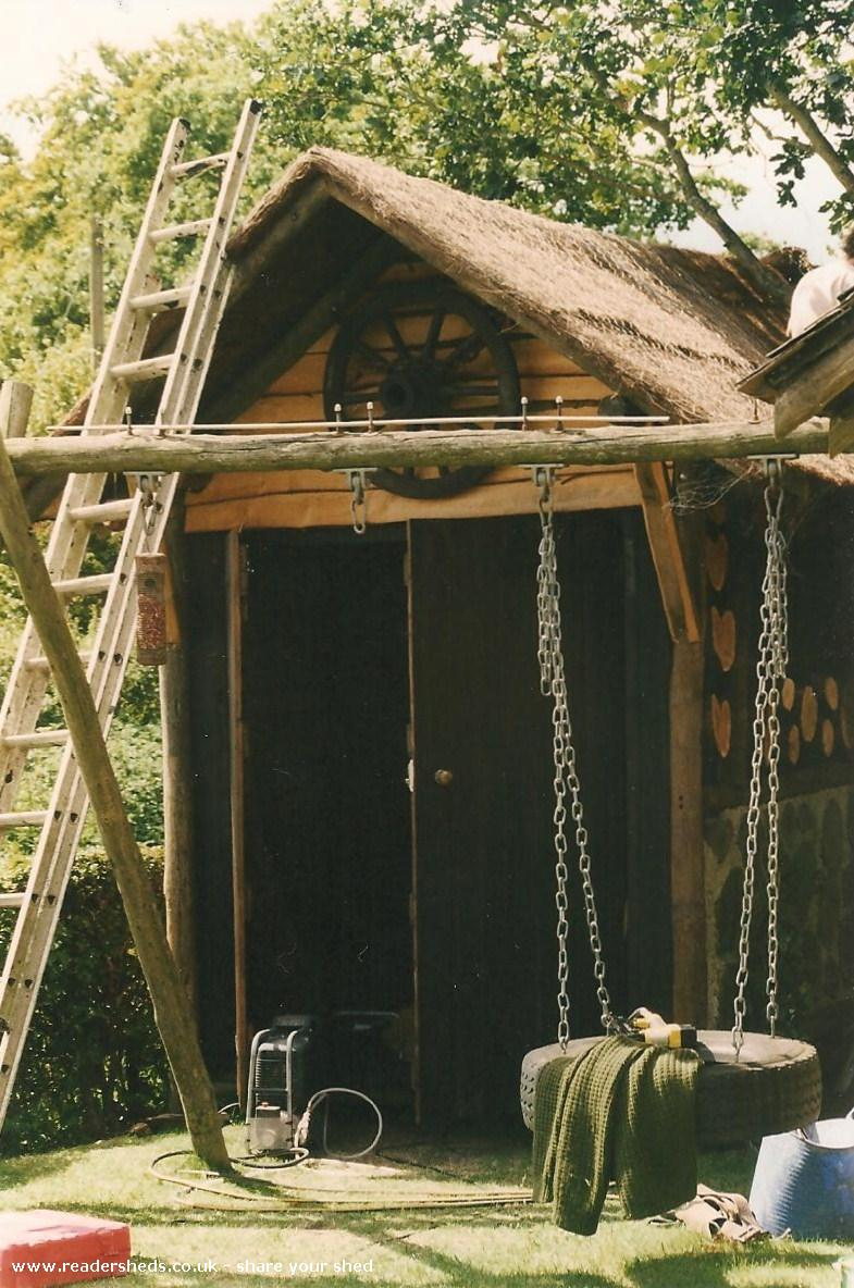The Round Log Shed Unique From Garden Owned By Katie
