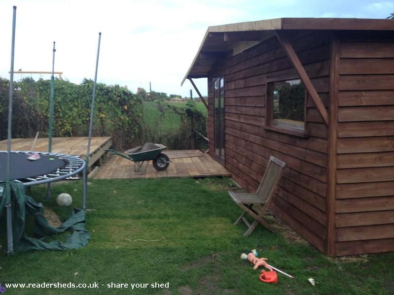 Man Cave Under Garden : Man cave cabin summerhouse from garden owned by tony