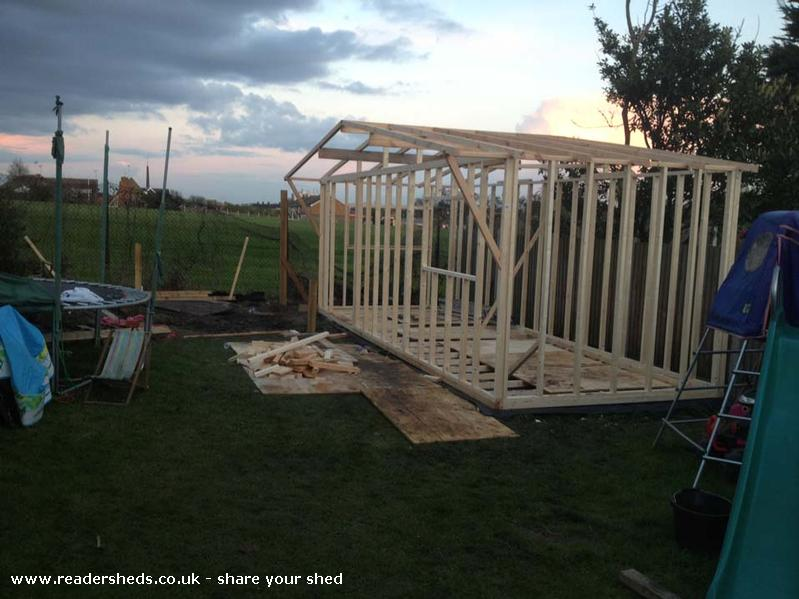 Man Cave Garden Buildings : Man cave cabin summerhouse from garden owned by tony