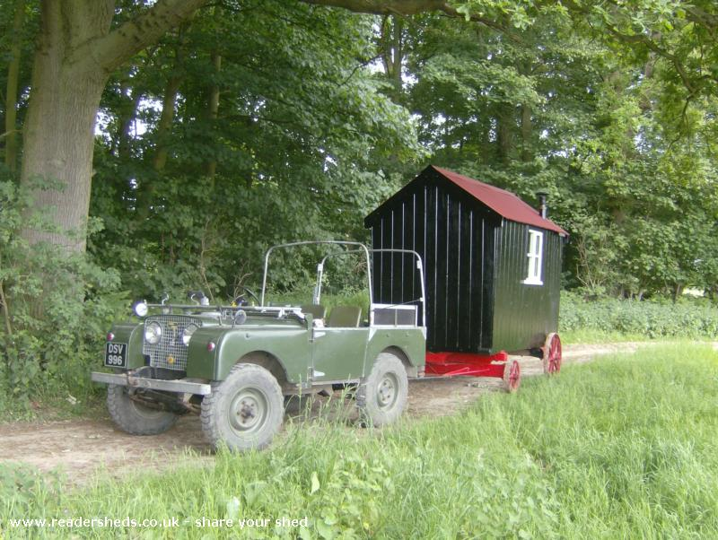 Photo of kimberly, entry to Shed of the year-On route to its new home...with the help of our Series One land Rover 1950...