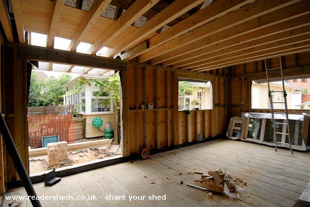 Photo of The Studio, entry to Shed of the year-The interior before partitioning.