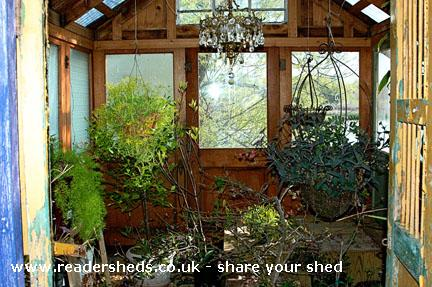Photo of House of Doors, entry to Shed of the year-Inside showing the chandelier light