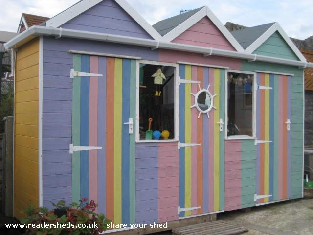 Beach Huts Unexpected From Garden Owned By Ian Shedoftheyear