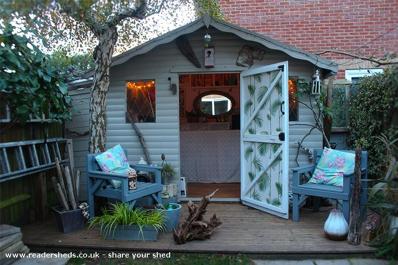 The Beat Hut Cabin Summerhouse From End Of Garden Owned