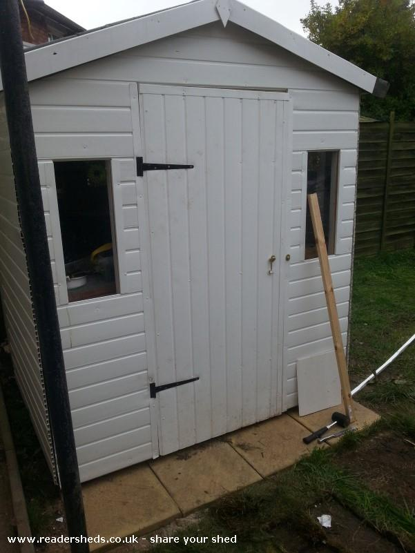 Photo of Guinea Pig shed , entry to Shed of the year-inside view