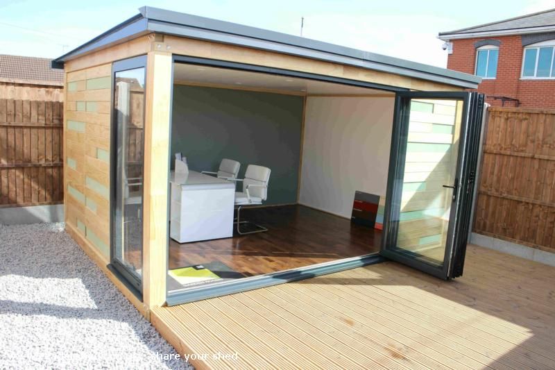 Photo of RAPOD Garden Office, entry to Shed of the year-Bifold Door
