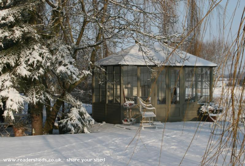 Photo of Riverside Summer House, entry to Shed of the year-Summer House in the snow