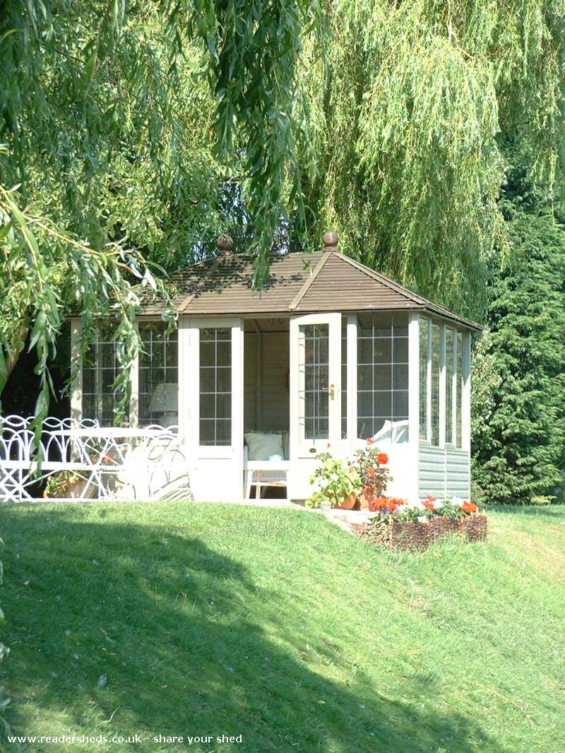 Photo of Riverside Summer House, entry to Shed of the year-Under the willow on the riverbank