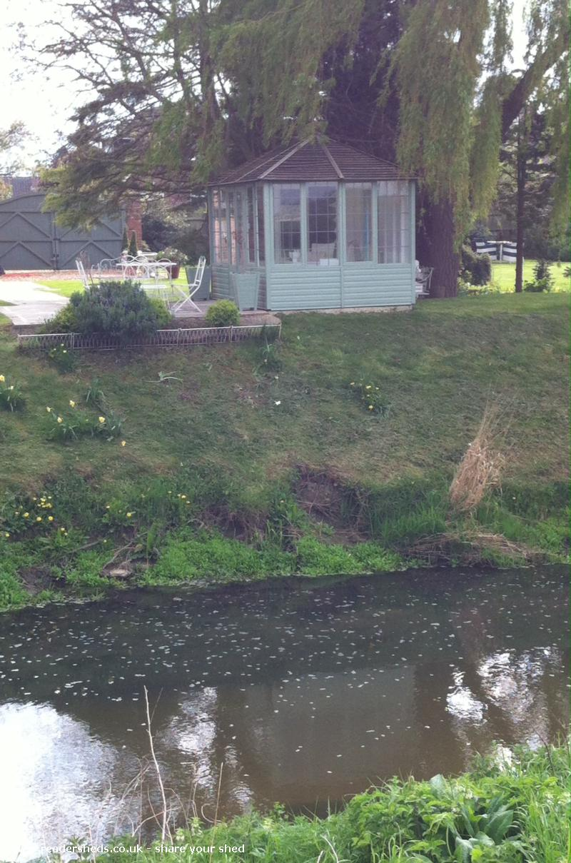 Photo of Riverside Summer House, entry to Shed of the year-Summer House from across the River