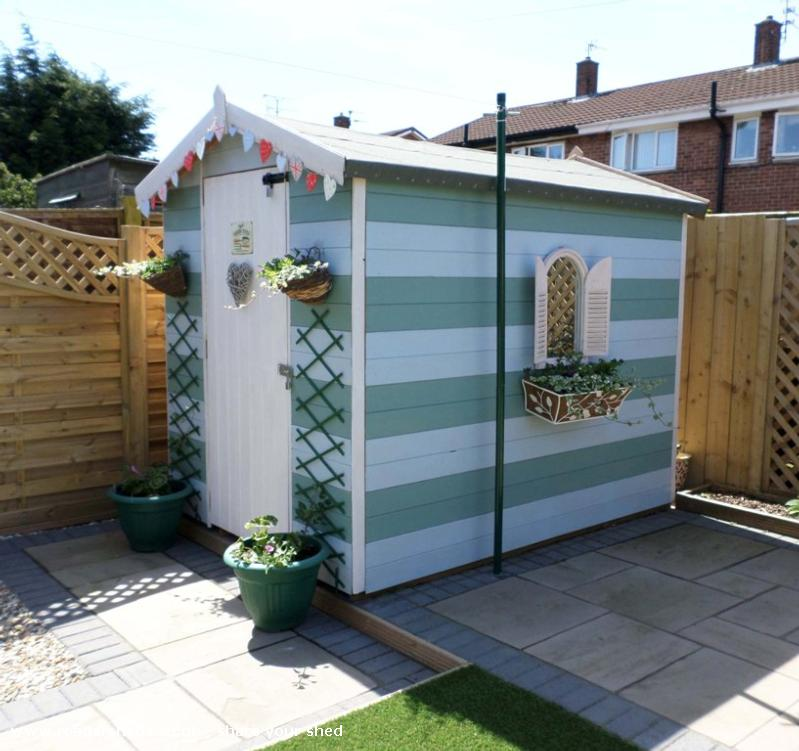 Beach Hut Shed Unique From Garden Owned By Dawn