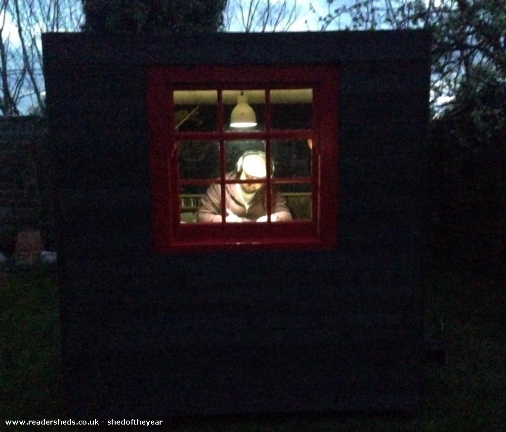 Photo of The poki, entry to Shed of the year-Late night shed working