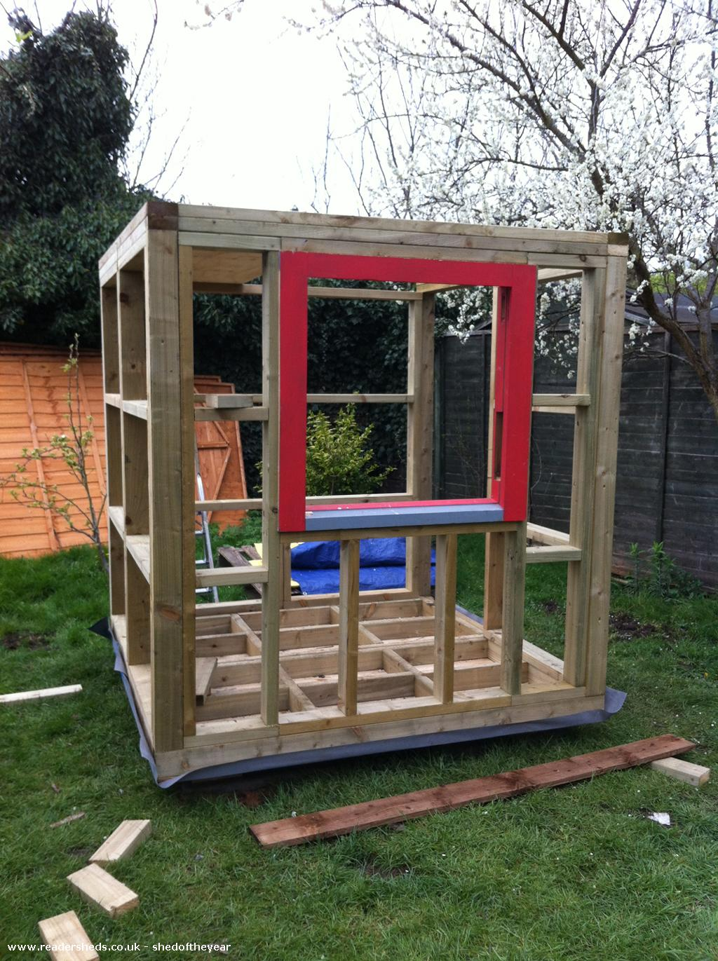 Photo of The poki, entry to Shed of the year-Building the frame