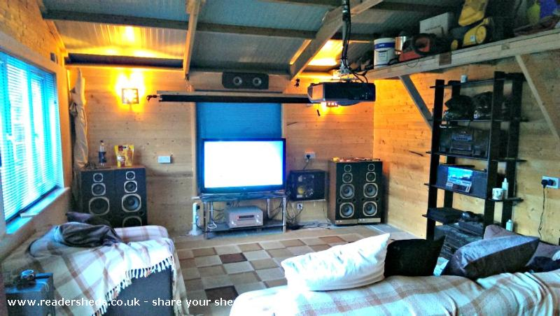 Man Cave Uk Stockists : Steves man cave workshop studio from garden owned by