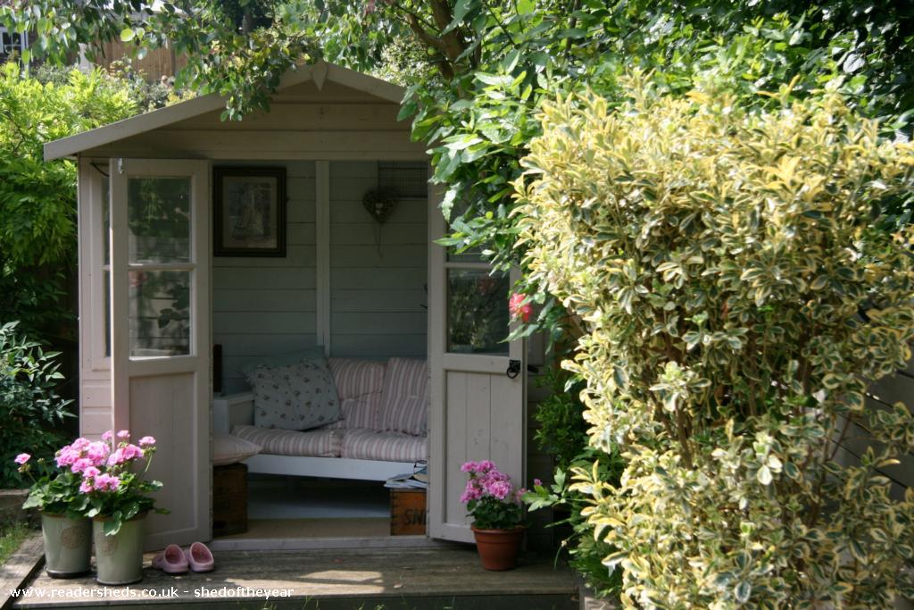 English country garden cabin summerhouse from garden owned by claire shedoftheyear - Summer projects house garden ...