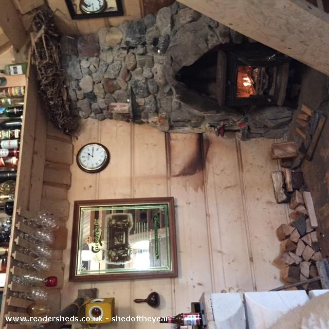 Photo of The Hooting Owl, entry to Shed of the year-Handmade Fireplace