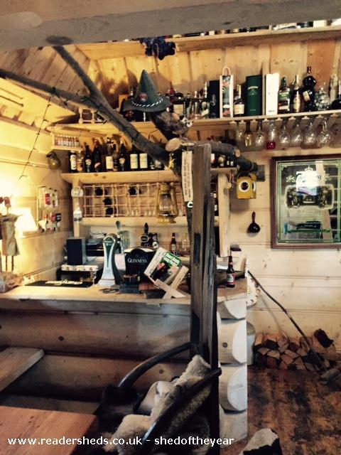 Photo of The Hooting Owl, entry to Shed of the year-The bar inside