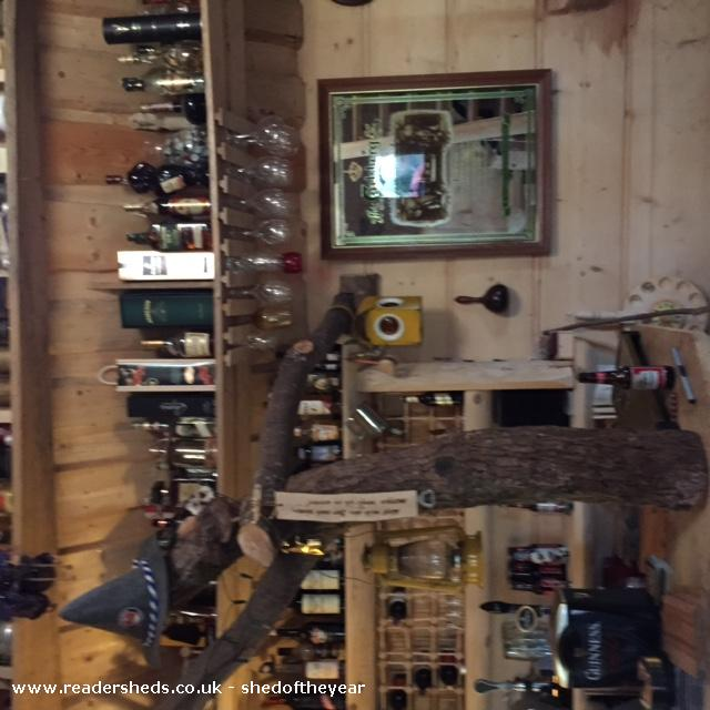 Photo of The Hooting Owl, entry to Shed of the year-More of the bar