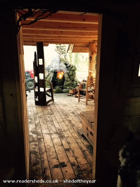 Photo of The Hooting Owl, entry to Shed of the year-The wizard's chair on the porch