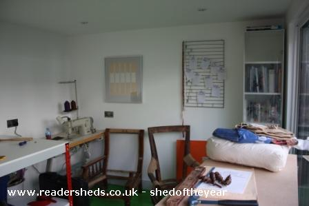 Sophie's lady shed and Ben's man cave