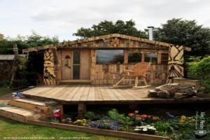 Cabin of the greenman  - Luke Anthony Wesley  -  back garden