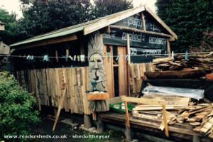 cabin of the green man  - Luke Anthony wesley  - back garden