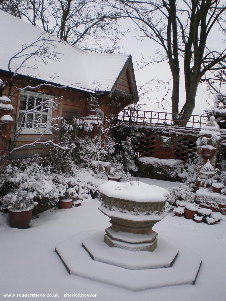 Photo of The Talliston Cabin, entry to Shed of the year-The Cabin: exterior in the snow