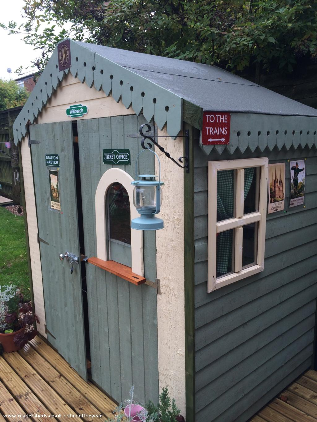 Willbeech Station Unexpected From Back Garden Owned By