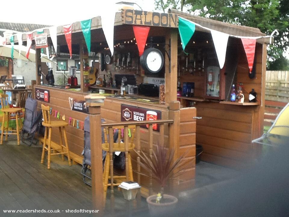 Jjs bar james morris garden for Garden shed pub