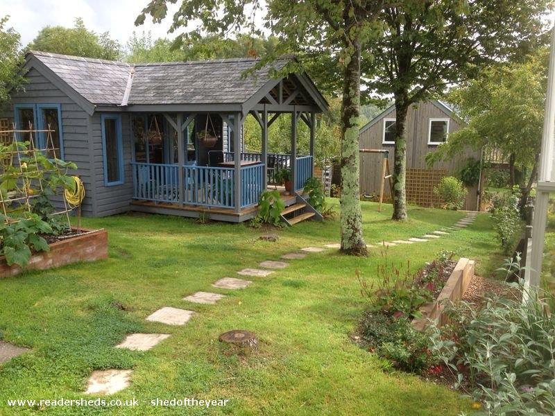 gardening shed - Judith Tomline - garden