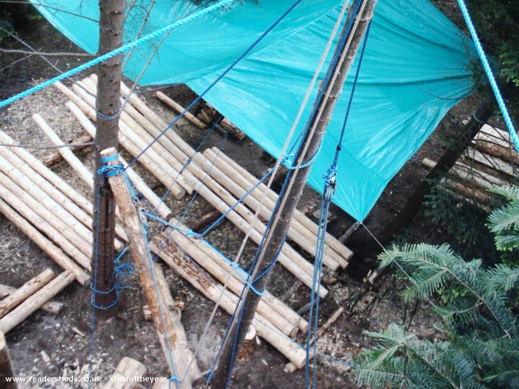 Photo of Cormacs Bothy, entry to Shed of the year-Rigging