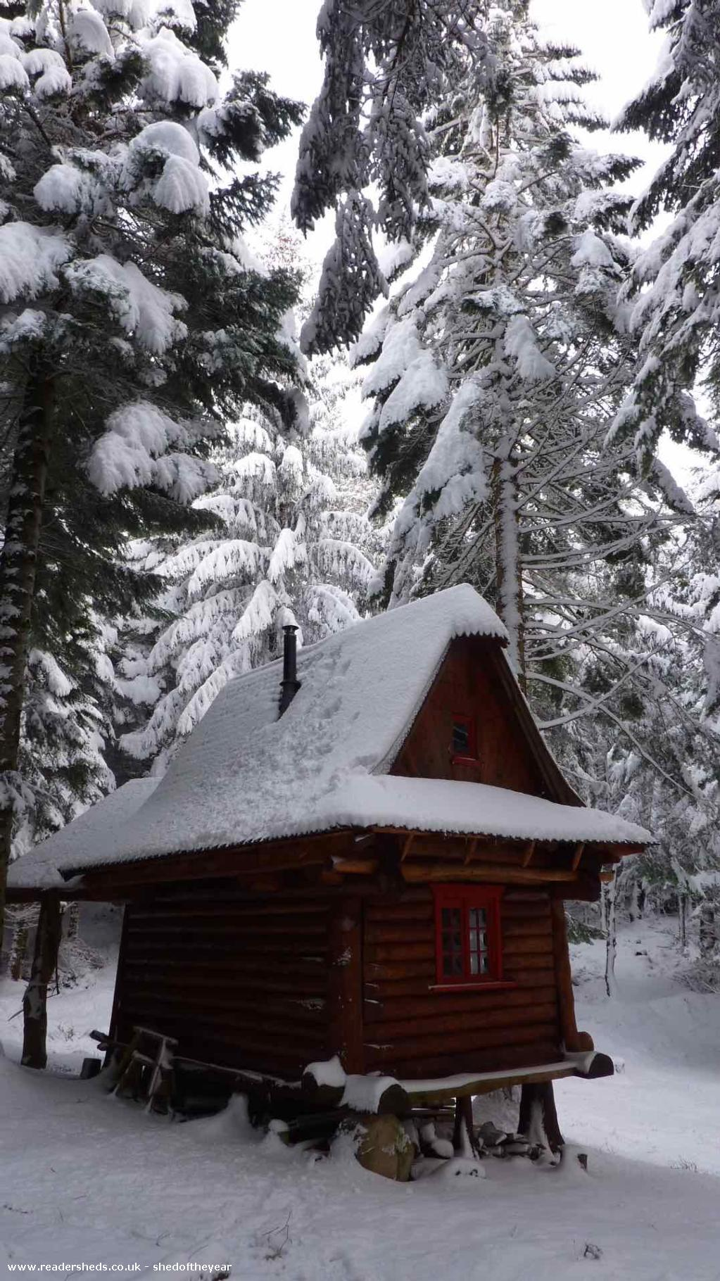 Photo of Cormacs Bothy, entry to Shed of the year-Feb 2015