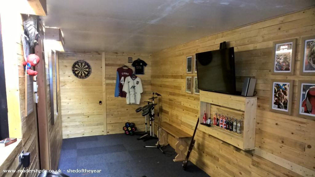 the man cave / cabin of rock