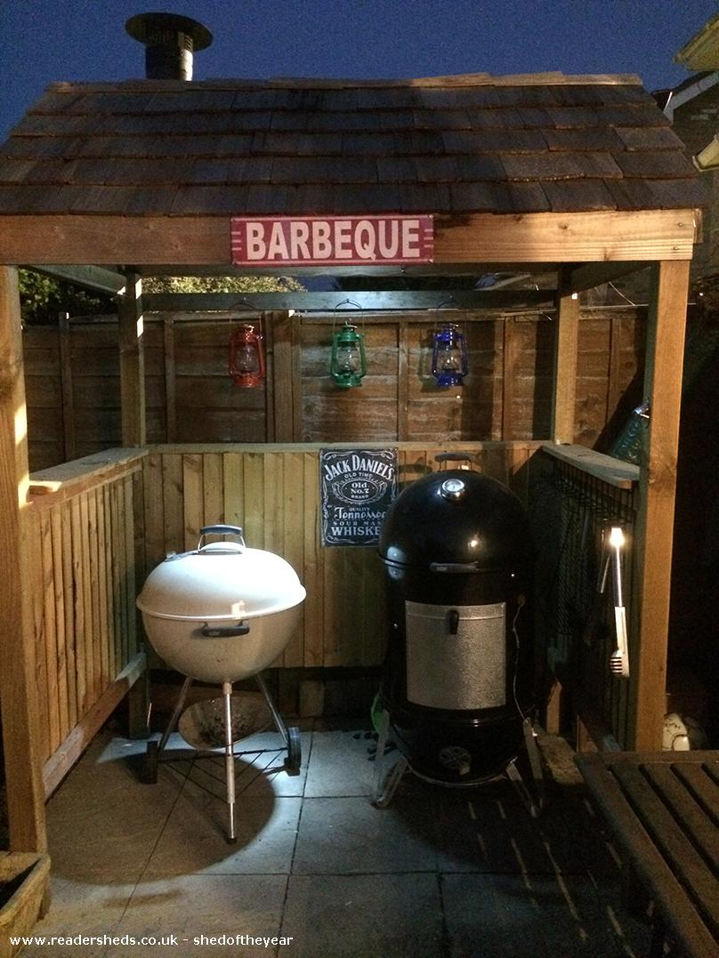 Photo of BBQ Shack, entry to Shed of the year-Night Shot