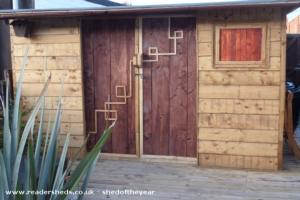 party shed - Christopher Atkin - The shed is at the bottom of the garden