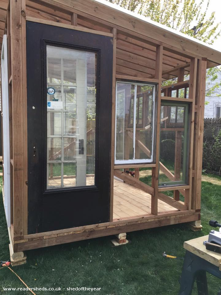 Photo of She Nook, entry to Shed of the year-side view